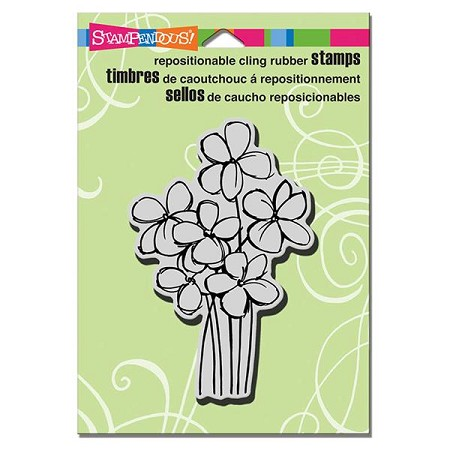 Stampendous - Cling Mounted Rubber Stamp - Blossom Bunch