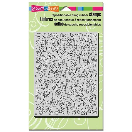 Stampendous - Cling Mounted Rubber Stamp - Floral Tapestry