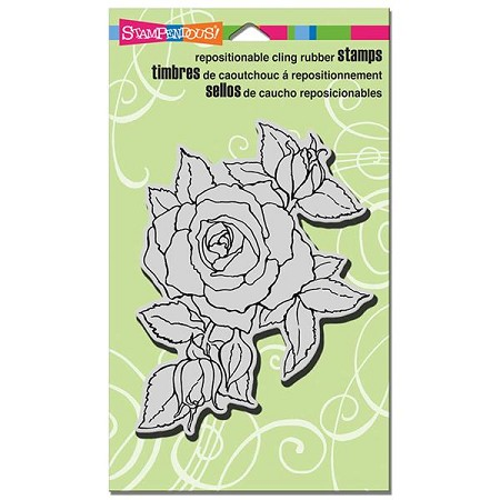Stampendous - Cling Mounted Rubber Stamp - Timeless Rose