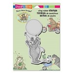 Stampendous - Cling Mounted Rubber Stamp - House Mouse Gruffies Balloon Bear