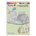 Stampendous - Cling Mounted Rubber Stamp - House Mouse Happy Hoppers Bon Bon Bunny