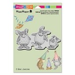 Stampendous - Cling Mounted Rubber Stamp - House Mouse Happy Hoppers Easter Hares
