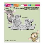 Stampendous - Cling Mounted Rubber Stamp - House Mouse Cast Coloring