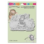 Stampendous - Cling Mounted Rubber Stamp - House Mouse Sharing Seed