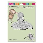 Stampendous - Cling Mounted Rubber Stamp - House Mouse Tee Time