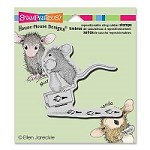 Stampendous - Cling Mounted Rubber Stamp - House Mouse Making Prints