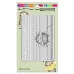Stampendous - Cling Mounted Rubber Stamp - House Mouse Chalk It Up