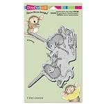 Stampendous - Cling Mounted Rubber Stamp - House Mouse Painting Pals