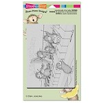 Stampendous - Cling Mounted Rubber Stamp - House Mouse Musical Mice
