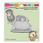 Stampendous - Cling Mounted Rubber Stamp - House Mouse Easter Egg Nap