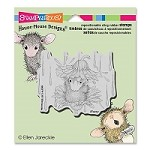 Stampendous - Cling Mounted Rubber Stamp - House Mouse Rain Flower