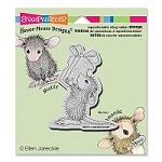 Stampendous - Cling Mounted Rubber Stamp - House Mouse Cheesy Gift