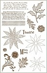 Darcie's Cling Mounted Rubber Stamp - Sunny Poinsettia