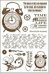 Darcie's Cling Mounted Rubber Stamp - Cherish Time