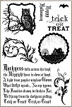 Darcie's Cling Mounted Rubber Stamps - Trick or Treat