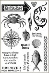 Darcie's Cling Mounted Rubber Stamps - Beach Bums