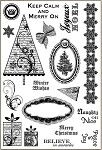 Darcie's Cling Mounted Rubber Stamps - Merry On