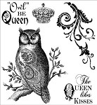 Darcie's Cling Mounted Rubber Stamp-Owl Queen