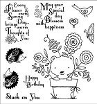 Darcie's Cling Mounted Rubber Stamp-Potted Pal