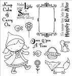 Darcie's Cling Mounted Rubber Stamp-Little Red