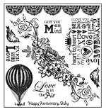 Darcie's Cling Mounted Rubber Stamp Set - Love is in the air