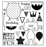 Darcie's Cling Mounted Rubber Stamp Set - Monstrously Fun