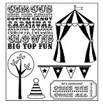 Darcie's Cling Mounted Rubber Stamp Set - Under the Big Top