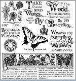 Darcie's Cling Mounted Rubber Stamp Set - Take Wing