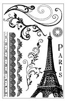 Darcie's Cling Mounted Rubber Stamp Set - Paris Backgrounds