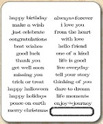 Tim Holtz - Cling Rubber Stamp Set - Simple Sayings