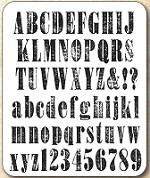 Tim Holtz - Cling Rubber Stamp Set - Worn Text