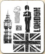 Tim Holtz - Cling Rubber Stamp Set - London Sights
