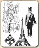 Tim Holtz - Cling Rubber Stamp Set - Paris Memoirs