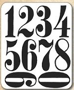Tim Holtz - Cling Rubber Stamp Set - Numeric