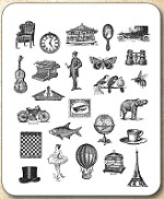 Tim Holtz - Cling Rubber Stamp Set - Tiny Things