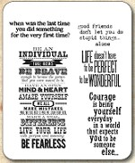 Tim Holtz - Cling Rubber Stamp Set - Way with Words