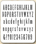 Tim Holtz - Cling Rubber Stamp Set - Tall Text
