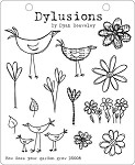Dylusions-Rubber Stamp-How Does Your Garden Grow