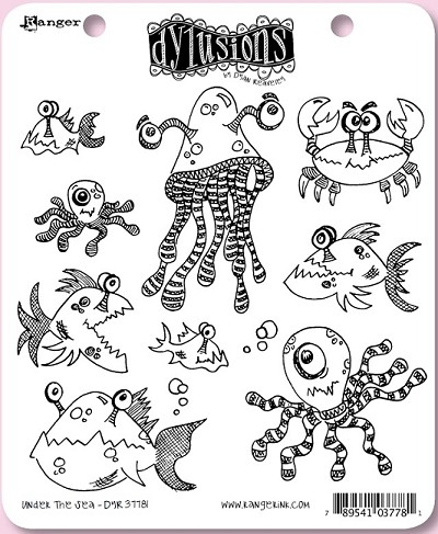 Dylusions - Rubber Stamp - Under the Sea