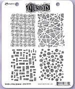 Dylusions - Cling Rubber Stamps - Graphic Backgrounds
