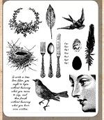 Tim Holtz - Cling Rubber Stamp Set - Nature Walk