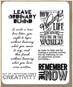 Tim Holtz - Cling Rubber Stamp Set - Random Quotes