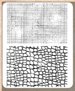 Tim Holtz - Cling Rubber Stamp Set - Graph & Croc