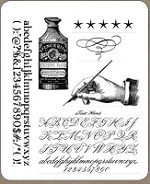 Tim Holtz - Cling Rubber Stamp Set - Typography