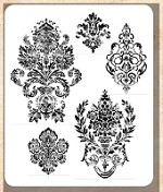 Tim Holtz - Cling Rubber Stamp Set - Distress Damask