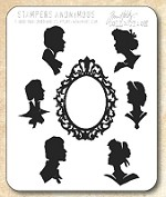 Tim Holtz - Cling Rubber Stamp Set - Artful Silhouettes