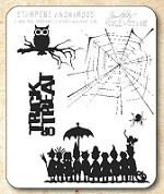 Tim Holtz - Cling Rubber Stamp Set - Halloween Cutouts
