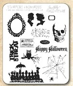 Tim Holtz - Cling Rubber Stamp Set - Mini Halloween 3