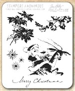 Tim Holtz - Cling Rubber Stamp Set - Christmas Time