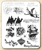Tim Holtz - Cling Rubber Stamp Set - Mini Holidays 4